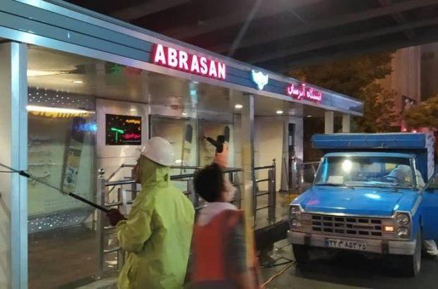 گزارش تصویری استمرار نظافت و ضدعفونی درشرکت اتوبوسرانی تبریز و حومه